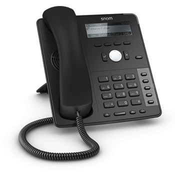 snom D715 (PoE*, Gigabit-Switch, USB-Port)